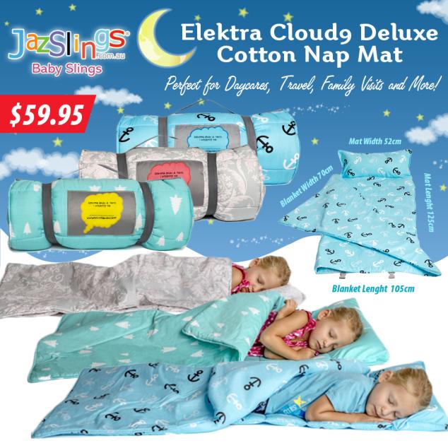 Elektra Cloud9 Deluxe Cotton Nap Mat Daycare Jazslings